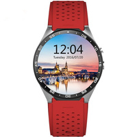 Best 3G wifi kingwear Kw88 android 5.1 OS Smart watch 1.39 inch screen 2.0MP Camera SmartWatch phone support bluetooth nano SIM