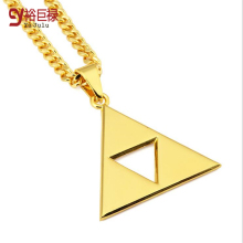 2016New Fashion  Personality Europe Hip Hop 18k Gold Chain Necklace Hollow Triangle Necklace Jewelry Necklace Gift for Men Women fenasy 18k yellow gold crown pendant pearl necklace women wedding pearl jewelry chain necklace 18k gold necklace for love gift