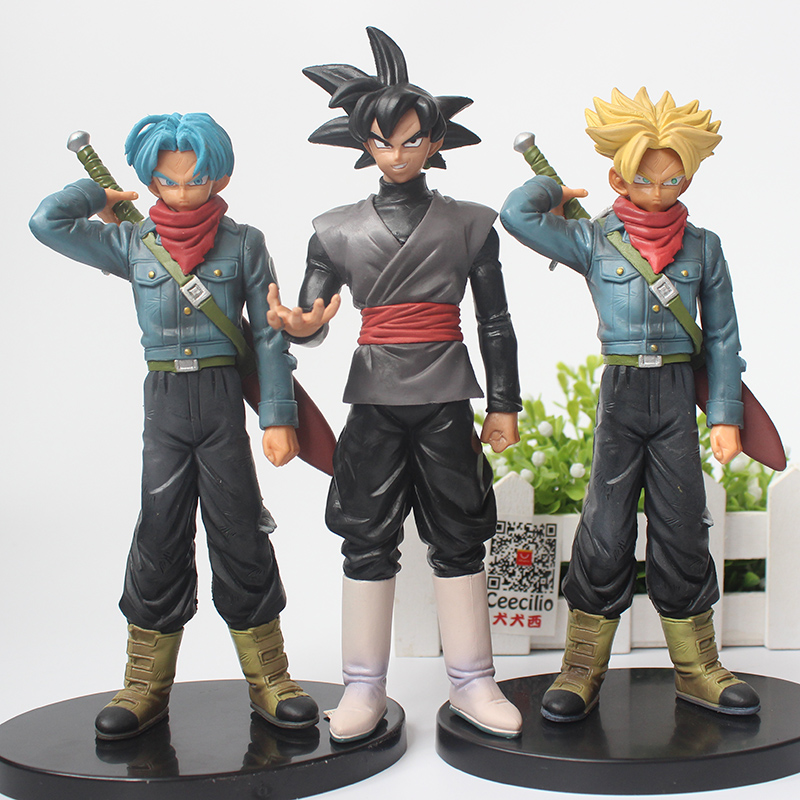 Dragon Ball Super DXF WARRIORS Figurine Torankusu Goku-black Super Saiyan Trunks PVC Model Figure Toys dragon ball dxf the super warriors vol 3 super saiyan rose gokou black and vegetto pvc figure collectible model toys kt4201