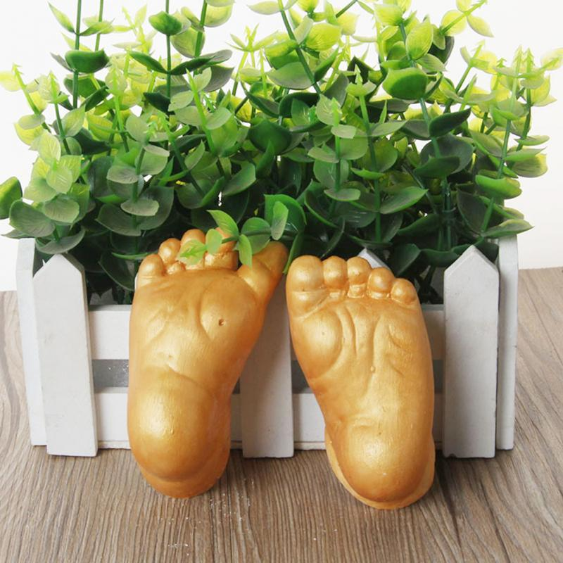 2019 Baby 3D Hand And Foot Print Plaster Casting Kit Handprint Footprint Naissance Gift
