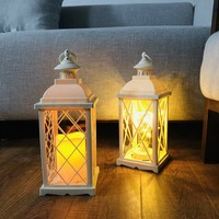 Hollow Holder Candlestick Tealight Hanging Lantern Bird Cage Vintage Wrought New 0259