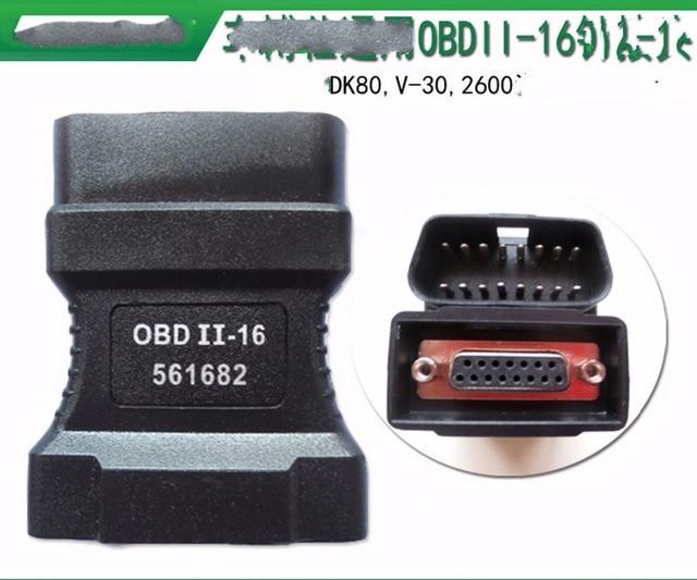 100% For Autoboss v30 16 pins OBD II Adapter Car Diagnostic Obd2 Connecter OBD II Adaptor Connector 16pin connector DK80 2600+