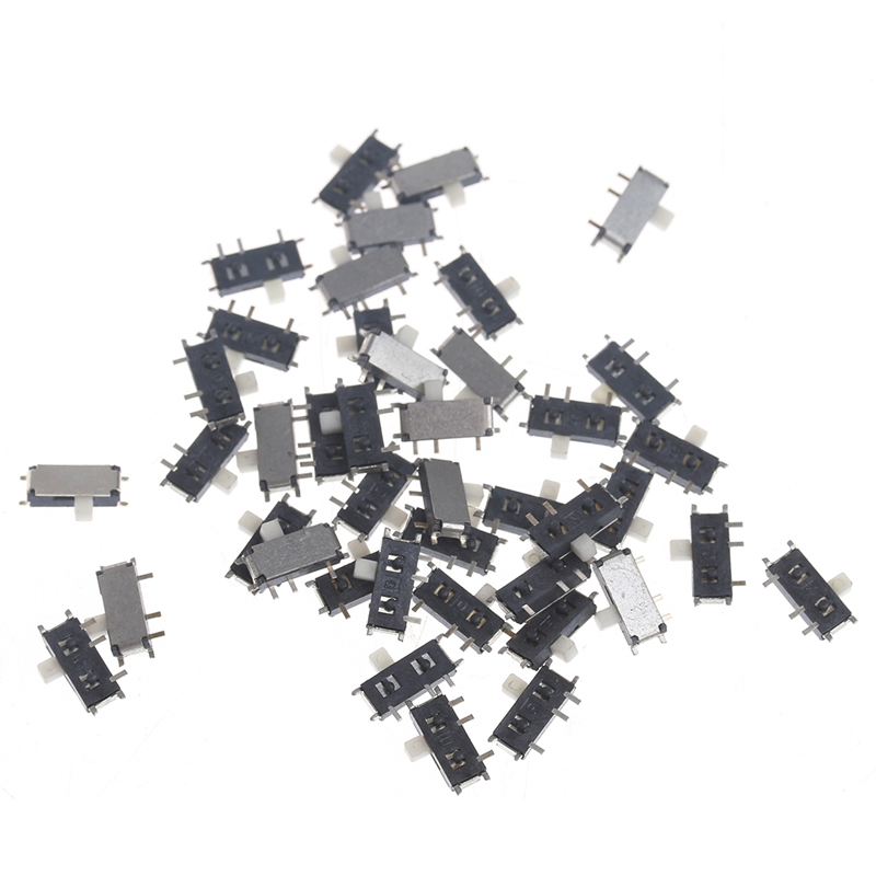 50Pcs Mini 7-Pin On/Off 1P2T SPDT MSK-12C02 SMD Toggle Slide Switch For MP3 MP4 цена