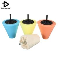 Hot Sale 4Pcs Set Foam Polishing Cone Shaped Polishing Pads For Wheels Use With Power Drill