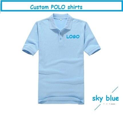 Бренд хлопка люди женщин camisa поло с коротким рукавом твердых печатные работы рубашки вышивка creat собственный логотип компании