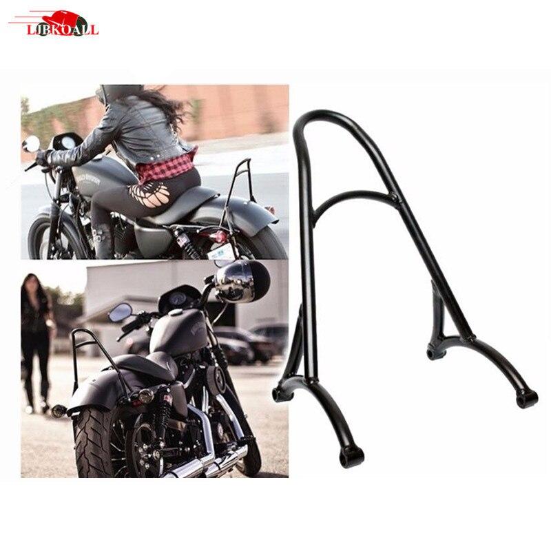 High Quality Motorcycle Black Short Passenger Sissy Bar Backrest For Harley Sportster XL Iron Nightster 883 1200 2004-2016 New black short passenger backrest sissy bar for harley sportster 883 xl1200 48 72 2004 2017