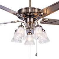 Fan ceiling fan light restaurant living room bedroom minimalist modern iron leaf with LED European leaf fan lamp FS19