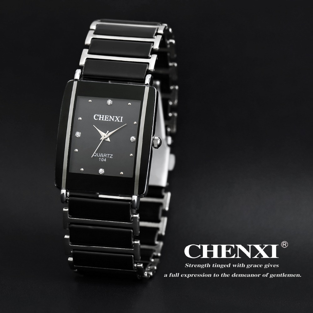 CHENXI Brand Luxury Lovers Watch Men Fashion Casual Quartz Watches Women Dress Rhinestone Couple Wristwatch Relogio Feminino 2017 olevs luxury quartz casual watch fashion nylon belt watches men women couple watch for lovers sports wristwatch black
