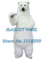 Реалистичные белый медведь костюм талисмана взрослый размер высокое качество меха белый полярный медведь тема аниме cosply карнавальные кост