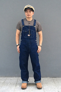 Image 5 - Bob Dong 40s Three In One Wabash Striped Overalls Vintage High Back Denim Pants 40s Retro Trousers
