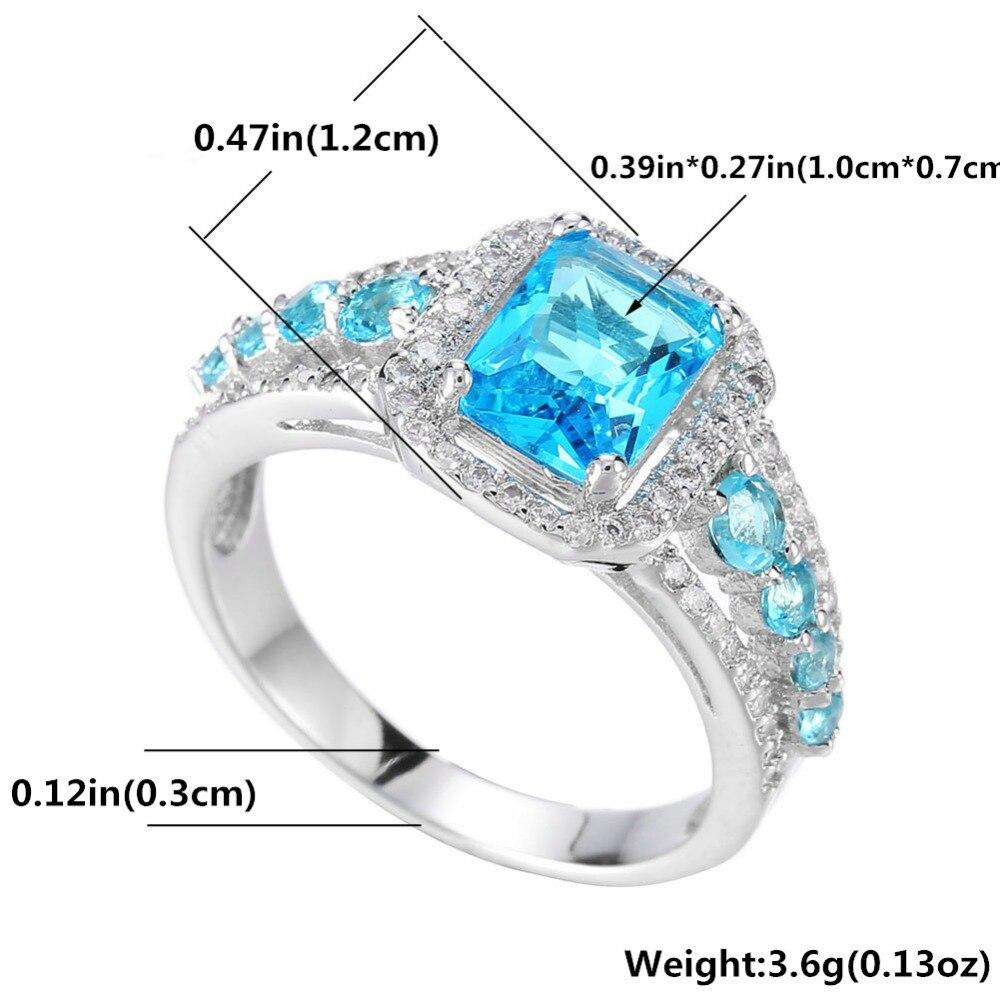 Classique Trois Pierre Zircone Cubique Doigt Ring Fashion Jewelry mariage pour les femmes