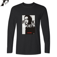 MR Robot Long T Shirt Men Hip Hop TShirts And MR Robot Long Sleeve T Shirt