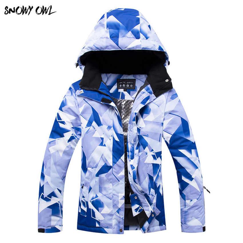 Mùa đông Phụ Nữ Trượt Tuyết Áo Khoác Mùa Đông Ngoài Trời Veneer Đôi Board Windproof Không Thấm Nước Ấm Dày Trượt Tuyết Áo Khoác 300wy
