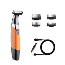 Electric Shavers Men Waterproof Beard Grooming kit with 4 Guide Combs USB Rechargeable Body Groomer and Hair Remover for Eyebrow