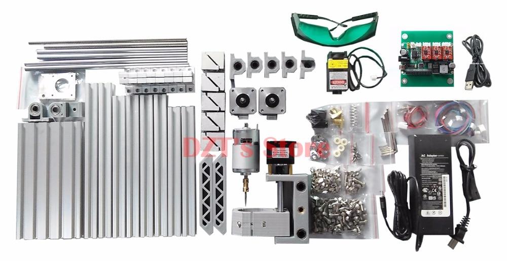 CNC 1610 ER11 laser GRBL control Diy mini CNC machine,working area  16x10x4 5cm,3 Axis pcb pvc Milling machine,wood router