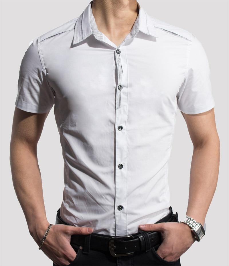 Men dress shirts 2017 men 39 s fashion design white shirt men for Mens dress shirts sizes