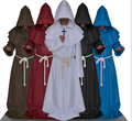 free shipping Mens Monk Habit Robe with Cross Fancy Dress Costume Friar Tuck Halloween Religious S M L XL 2XL