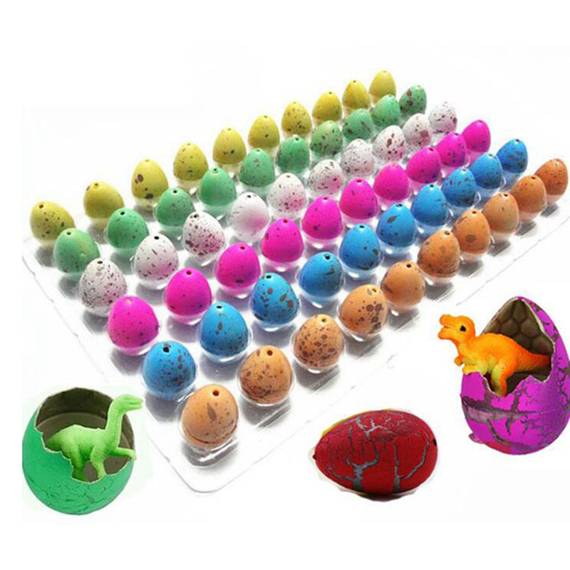 10Pcs Novelty Gag Toys For Children Cute Dinosaur Easter Eggs Educational Toys Magic Hatching Growing Dinosaur Eggs Funny Toy