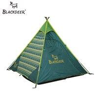 BLACKDEER Tourist Tent Indian Style Pyramid Tipi Tent Mesh Teepee UNI Waterproof Camping Yurt Family Tent Lightweight
