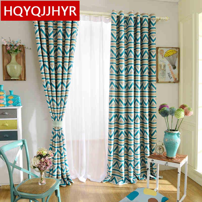 simple moderna de rayas cortinas para nios sala de la nueva alta calidad de tela cortinas
