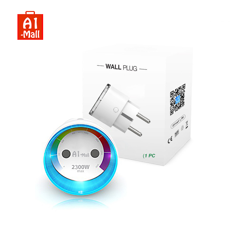 Wi-Fi умная розетка ЕС Plug замер версии 2300 Вт 10A энергии мониторинг таймер голос Управление работать с Alexa Google