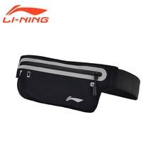 Li-ning zapatos de Correr Profesionales Bolsas de Deporte Paquete de Bolsas de Revestimiento ABLM026 Waistpack Impermeable Reflectante