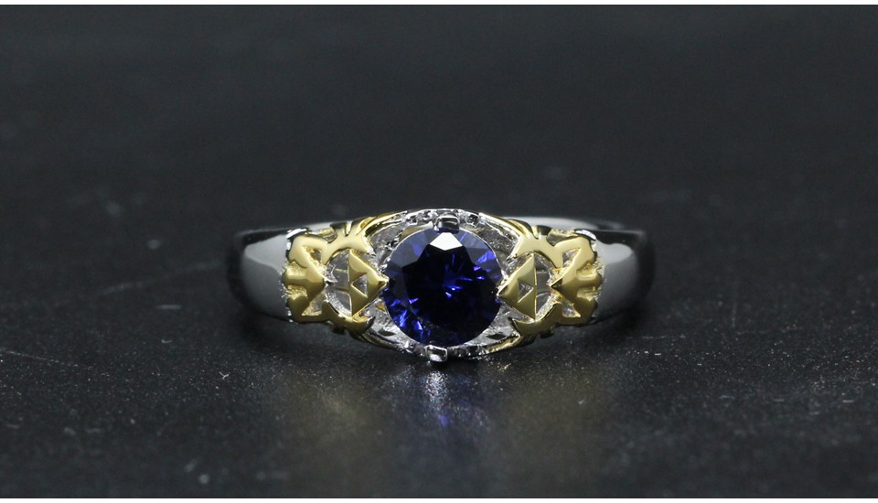 GZR0022-925S 0.8ct blue stone 2-tone gold (7)
