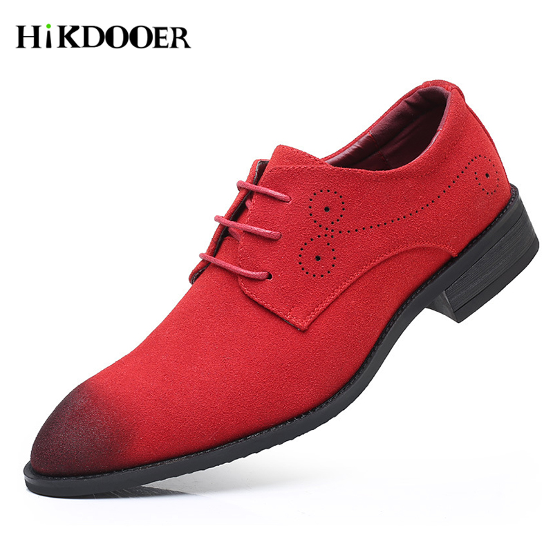 Men Oxfords Shoes Man 2018 Summer Breathable Casual   Suede     Leather   Shoes British Man Cut Outs Dress Shoes Big Size 38-48