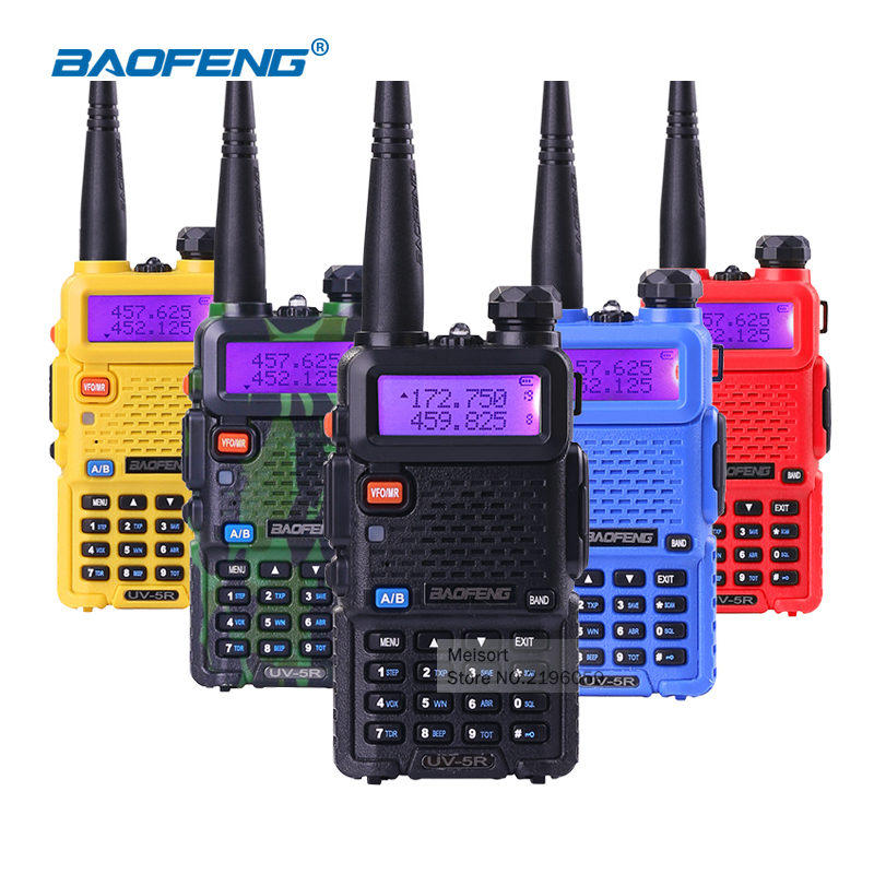 (2 unids) Baofeng uv5r Walkie Talkie uv-5r Banda de mano 5W Radio bidireccional Pofung UV 5R Radio de mano Walkie-Talkie