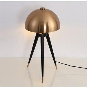 Image 3 - Lámpara de pie de diseño posmoderno para el hogar, cabeza de seta galvanizada de Metal, para sala de estar, lámpara de noche para dormitorio
