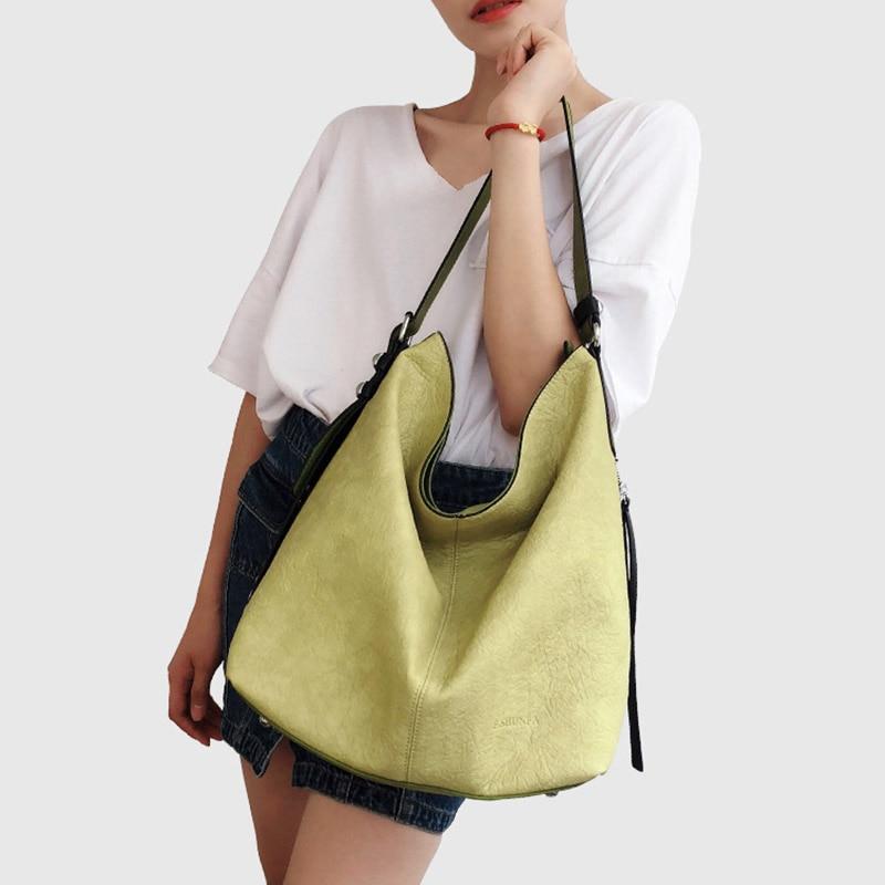 2018 New Arrival Women Handbag soft offer pu Leather bags Zipper messenger bag/ Splice grafting Vintage Shoulder Crossbody Bags