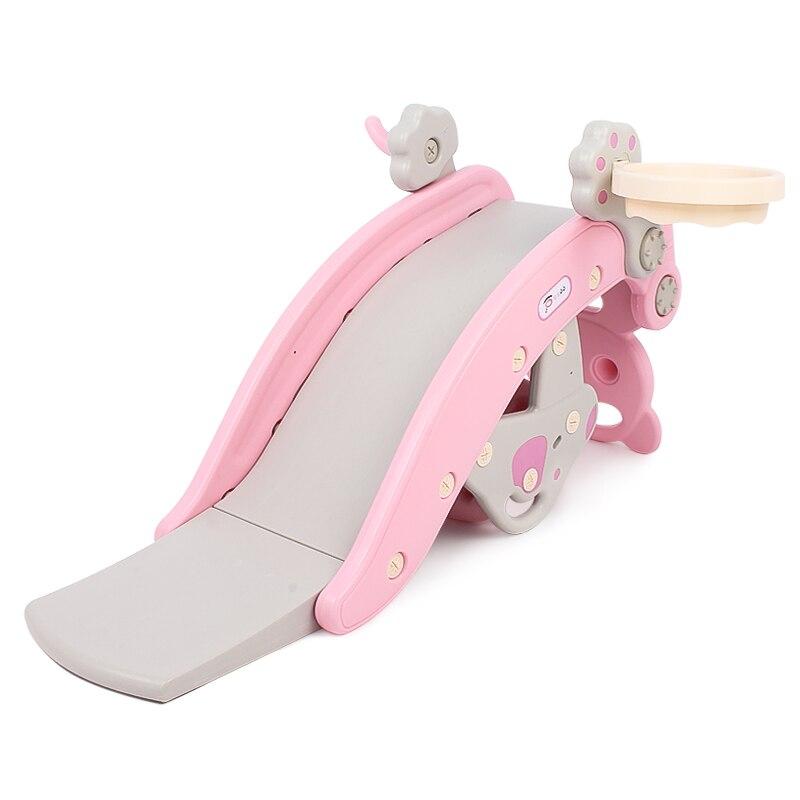Nouveau multi-fonction respectueux de l'environnement PE toboggan coulissant tir cheval à bascule 3 en 1 intérieur petit équipement d'amusement pour enfants cadeau