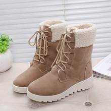 Fashion Women Boots 2017 Winter New Snow Boots Black/brown New Design Mujer Botas Casual Shoes for Woman