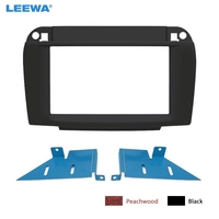 LEEWA 자동차 2Din 스테레오 라디오 Fascia Frame for BENZ S-Klasse (W220)/CL-Klasse (C215) 대시 보드 마운트 트림 Facia 패널 프레임 #5118