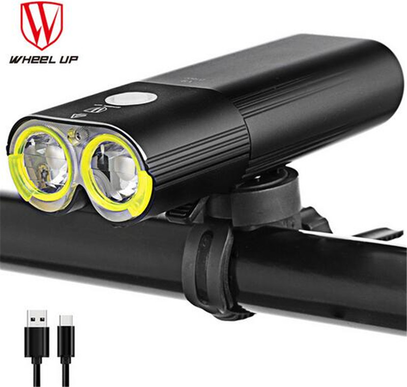 WHEEL UP Flashlight Rechargeable Cycling Riding Flashlight Bike Accessories Waterproof Bike Headlight MTB Bicycle Front Lamp nitenumen 1800lumens bike front light cycling headlight bicycle rechargeable flashlight waterproof 6400mah led head lamp for mtb