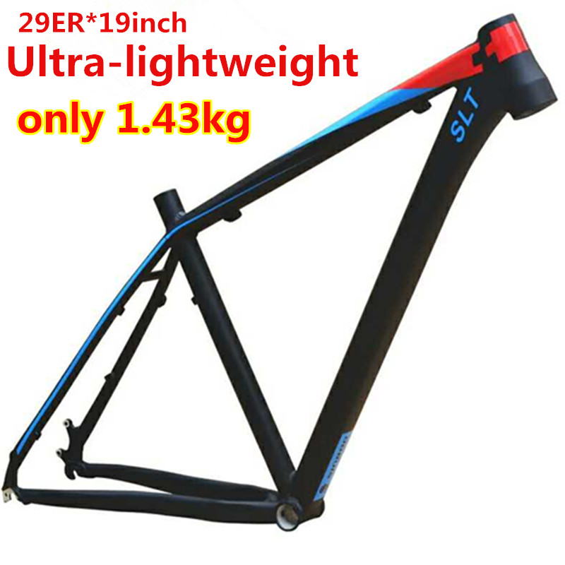 Aluminum alloy mountain bike bicycle frame MTB SLT 29-inch 29er*19inch Ultra-lightweight frame aluminum alloy mountain bike frame bicycle frame mtb 26 15 18inch ultra lightweight frame contains headset
