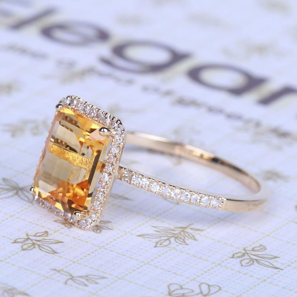 Fashion Women Lady Elegant Copper Big Square Rhinestone Crystal White Rings Wedding Party Bride Ring Jewelry