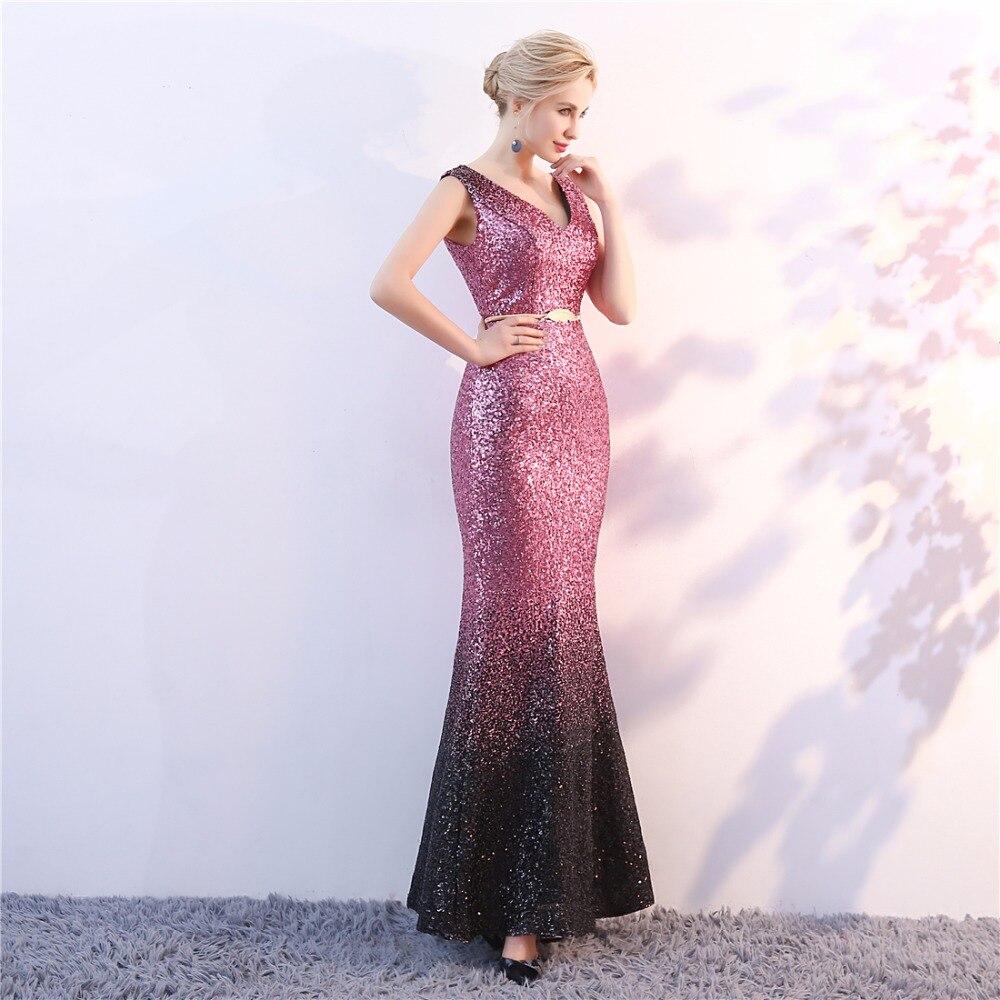 երեկոյան զգեստներ վարդագույն անթև - Հատուկ առիթի զգեստներ - Լուսանկար 4