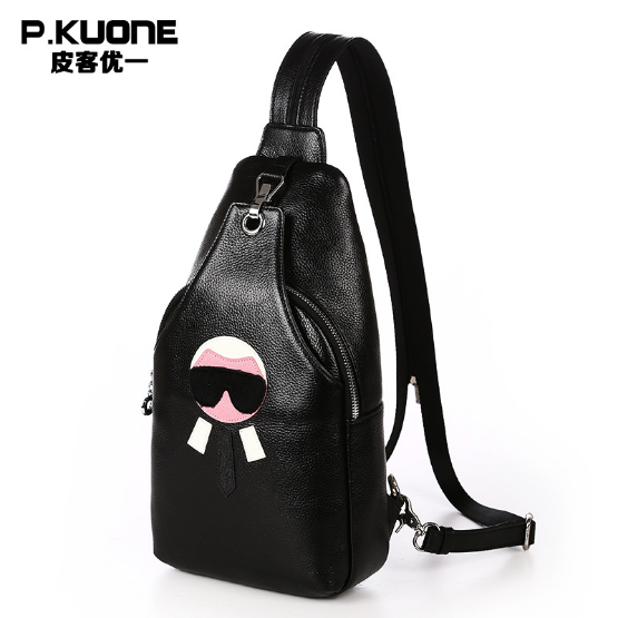 P.KUONE Genuine Leather Korean Style Multi Function Shoulder Bag Handbags Women Luxury Famous Brands Design Bags Messenger Bag casual saffiano women shoulder bags famous brands women messenger bags handbags women famous brands luxury korean style beige