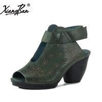 Xiangban 2018 Women Summer Shoes High Heel Sandals Women Chunky Heel Gladiator Women Sandals K130K3