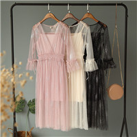2-Piece-Dress-Set-Women-Summer-Vintage-Chic-Streetwear-Bright-Gauze-V-neck-Flared-Beaded-Dress.jpg_640x640