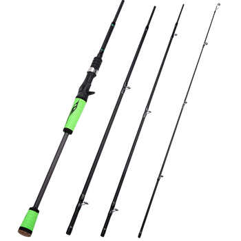 Sougayilang 2.1M 2.4M Fishing Rod and 12+1BB Casting Reel Combo Saltwater Carp Wheel Carbon Pole Sets Fishing Tackle