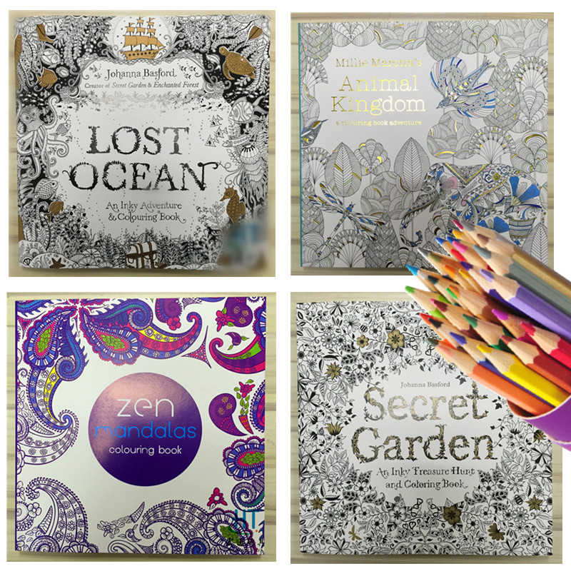 Aliexpress Buy 4pcs English Edition Secret Garden