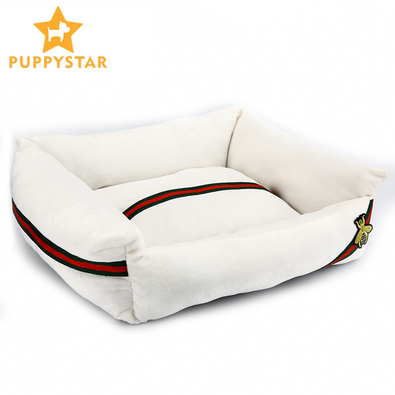 Pet Dog Bed For Small Medium Large Dog Product High Quality Breathable Warm Waterproof Dog Soft Cat Bed Animal Pattern XR0001