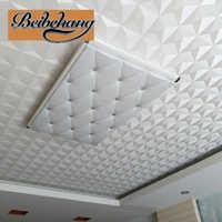 Beibehang Decke Tapete 3d Stereo Weiß Diamant Hotel Wohnzimmer Continental Stil Decke Dach Tapete papel de parede