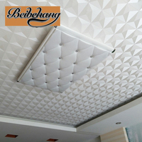beibehang Ceiling Wallpaper 3d Stereo White Diamond Hotel Living Room Continental Style Ceiling Roof Wallpaper papel de parede