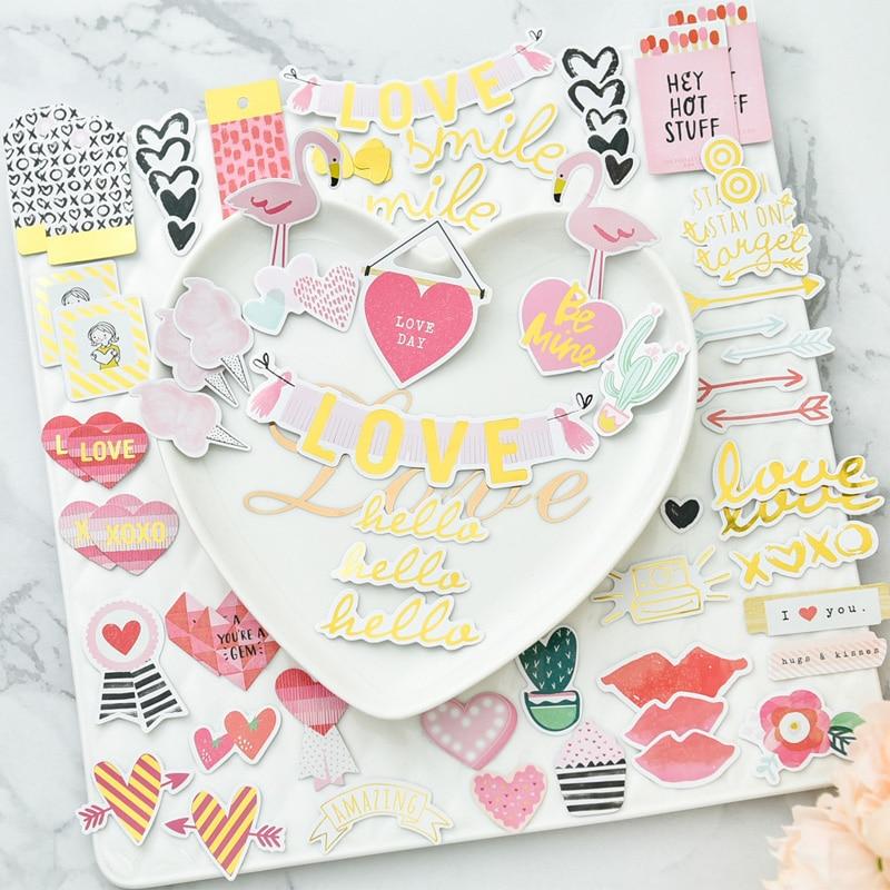KSCRAFT Witam Loven Folia Papier Die Cuts dla DIY Scrapbooking / album Dekoracji Karty Making Rzemiosło 65 sztuk