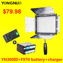 YONGNUO YN300 III CRI95 Led Camera Video Light with NP-F970 Battery & Charger YN300III for Video Blog Youtube Live Stream