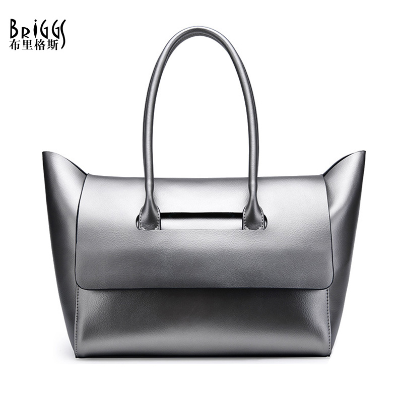 BRIGGS Brand Genuine Leather Women Handbag Fashion Composite Bag Designer Leather Women Shoulder Bag Casual Tote 2017 New