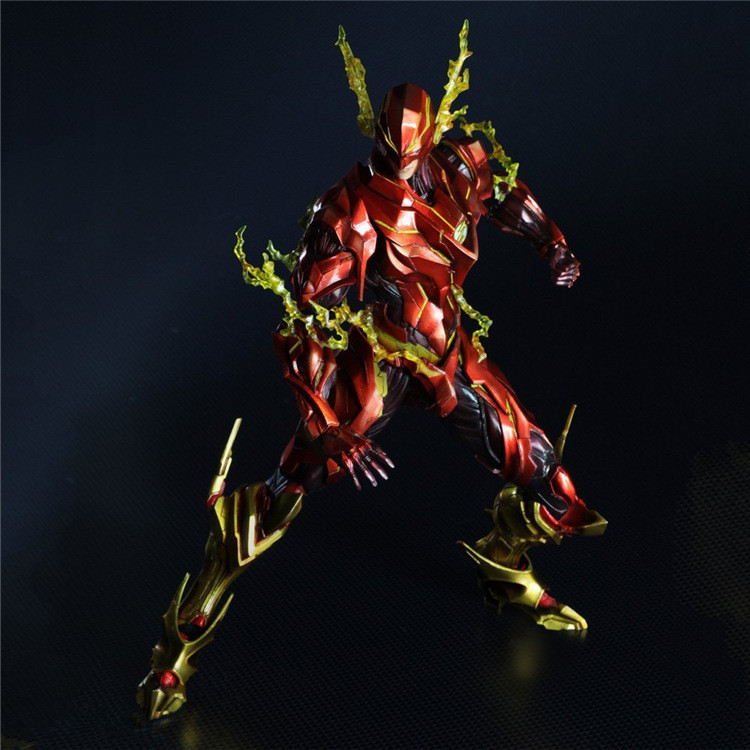 Boxed DC Comics Variant Play Arts Kai The Flash Figure Doll Movie PVC Action Figure Resin Collection Model Toy Gifts free shipping 6 comics dc superhero shfiguarts batman injustice ver boxed 16cm pvc action figure collection model doll toy